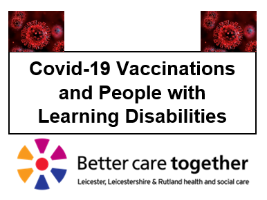 covid vaccinations and people with learning disabilities logo