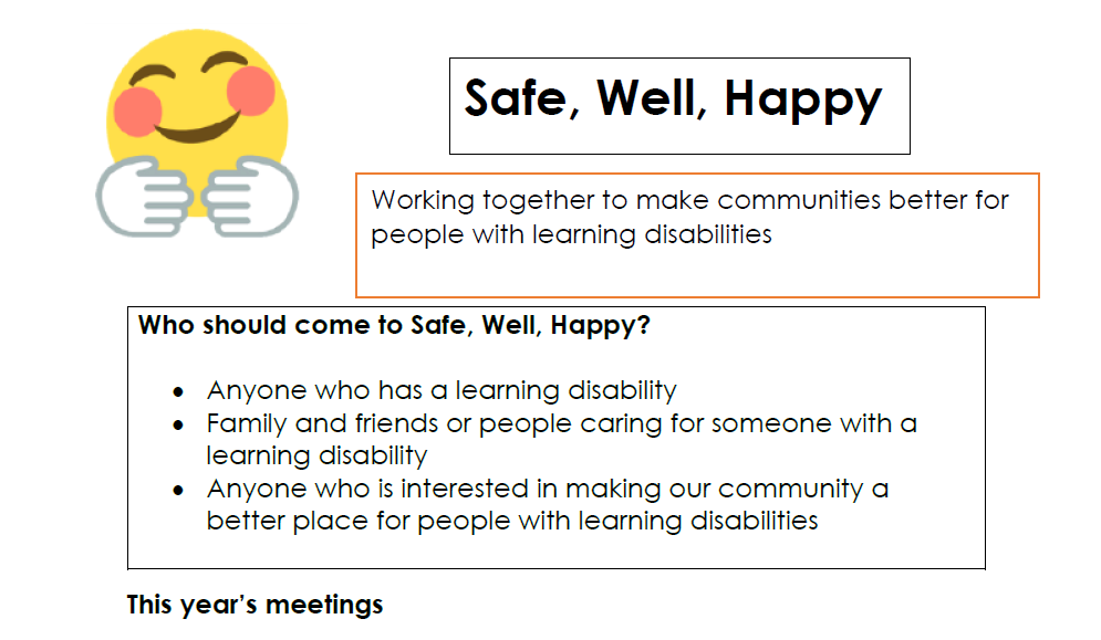 Safe Happy Well Information 2021