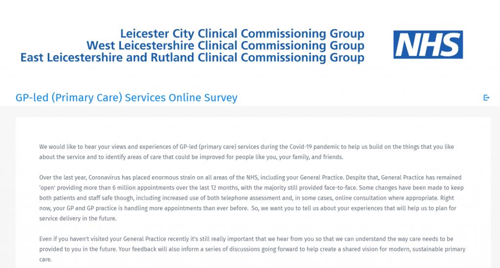 NHS GP practice survey
