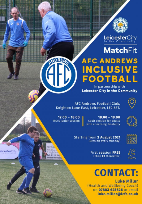 AFC Andrews Inclusive Football Flyer