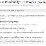 Community Life Choices Consultation